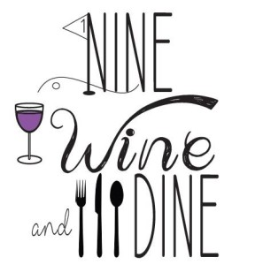Nine, Wine, and Dine Logo